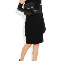 Lanvin | Gathered stretch-ponte dress | NET-A-PORTER.COM