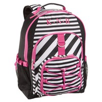 Gear-Up Magenta Black Stripe Backpack