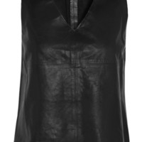 J Brand | Rita leather top | NET-A-PORTER.COM