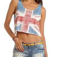 Union Jack Graphic Crop Tank: Charlotte Russe