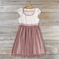 Glazed Lace Dress, Sweet Women's Country Clothing