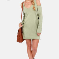 Terry-in' Up My Heart Sage Green Dress