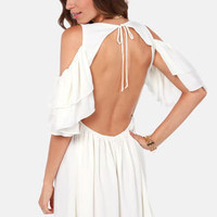 Salsa Dancer Backless Ivory Dress