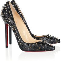 Christian Louboutin | Pigalle Spikes 120 nappa leather pumps | NET-A-PORTER.COM
