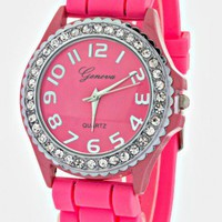 PINK JELLY CRYSTALS  WATCH