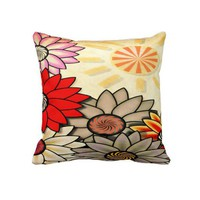 Sunny Day Print Pillow from Zazzle.com