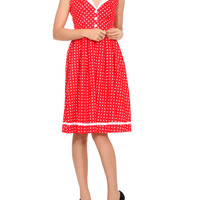 Hell Bunny April In Paris Red Dress | Hot Topic