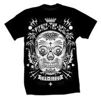 Amazon.com: PIERCE THE VEIL - Sugar Skull - Black T-shirt: Clothing