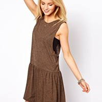 ASOS Smock Dress In Texture With Drop Armhole at asos.com