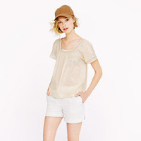 Eyelet peasant top - tops - Women's shirts & tops - J.Crew