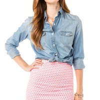 Satellite Mini Skirt in Pink - ShopSosie.com