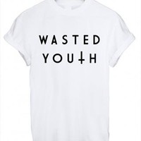 Wasted Youth Ladies Loose T from LiquornPoker