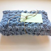 #Crochet Cotton #Dishcloth #Washcloth #Handmade Dish Cloth Wash Cloth Stonewash by MoomettesCrochet