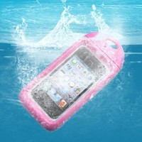 Amazon.com: AGPtek® Brand New Waterproof Hard Case Cover for Apple iPhone 4 4S Plus Neck Strap -Pink: Cell Phones & Accessories
