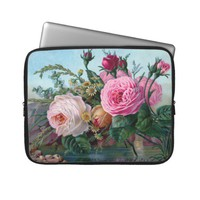 Beautiful Vintage Roses Electronics Bag from Zazzle.com