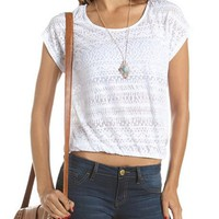 Burnout Aztec Banded Bottom Tee: Charlotte Russe