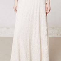 Anthropologie - Hydrangea Lace Maxi