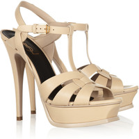Saint Laurent | Tribute leather platform sandals | NET-A-PORTER.COM