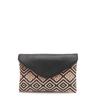 Invitation clutch in diamond raffia - bags - Women's Women_Shop_By_Category - J.Crew