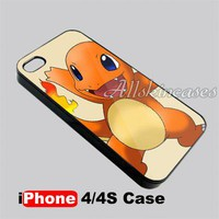 Cartoon Pokemon Charmander Charizard iPhone 4 4S Case Cover