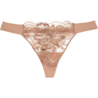 La Perla | LP Style lace and stretch-jersey thong | NET-A-PORTER.COM