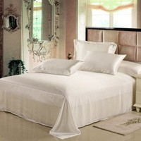 Amazon.com: Seamless 25 Momme Luxury Mulberry Silk Sheets Set,Silk Bedding Set (King, Ivory): Home & Kitchen