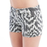 Amazon.com: Static Stripe Denim Shorts: Clothing