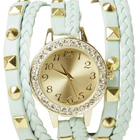 Pyramid Braided Wrap Watch | Shop Jewelry at Wet Seal