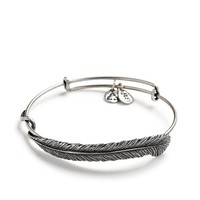 Alex and Ani Plume Feather Wrap - Russian Silver