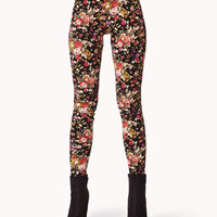 Floral Print Knit Leggings