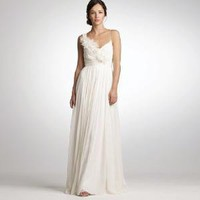 Chiffon and organza dune gown