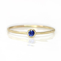 Sapphire Stacking Ring in 14k Gold