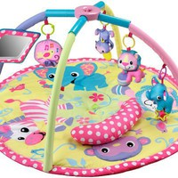 Infantino Baby Girl Animals Twist and Fold Activity Gym and Playmat