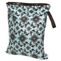 Planet Wise Diaper Wet Bag - Medium (Aqua Swirl)