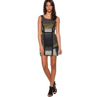 Bqueen Colorblock Knit Dress Black/Gold K141E - Designer Shoes|Bqueenshoes.com