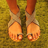 Flat Diamante Sandal  from PinkStrawberry