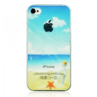 3D Water-drop Beach Phone Case For iPhone