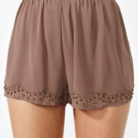 Beaded Chiffon Shorts