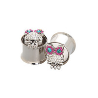 Morbid Metals Bling Owls Plugs 2 Pack | Hot Topic