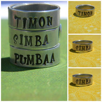 best friends choose one /timon/simba/ pumbaa ring 1/4 inch