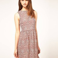 ASOS | ASOS Print Dress With Dipped Hem at ASOS