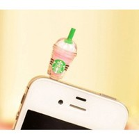 Amazon.com: SODIAL(TM) Hot New Starbucks Coffee Style 3.5mm Headphone Anti-dust Plug Cap for iPhone 4 4S Samsung Galaxy HTC LG - Pink Color: Electronics