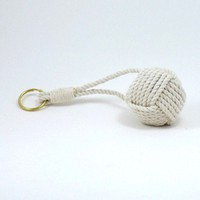Floating Nautical Keychain American Made Monkey Fist | MysticKnotwork - Accessories on ArtFire