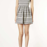 Stripe Jaquard Skater Dress - New In This Week  - New In