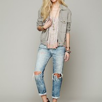 Free People Knit Bomber Jacket