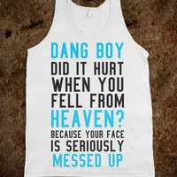 Your Face Is Messed Up-Unisex White Tank