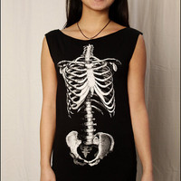 $24.00 Skeleton Torso Tshirt Dress by nwshirts on Etsy