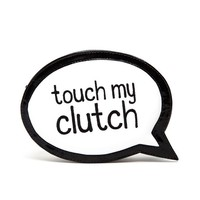 SOPHIA WEBSTER | 'Touch my Clutch' Embroidered Leather Clutch | Browns fashion & designer clothes & clothing