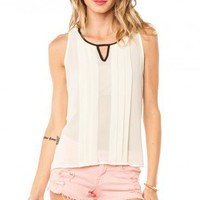 Prim and Pleated Tank - ShopSosie.com