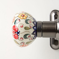 Handpainted Amaryllis Finials by Anthropologie Multi